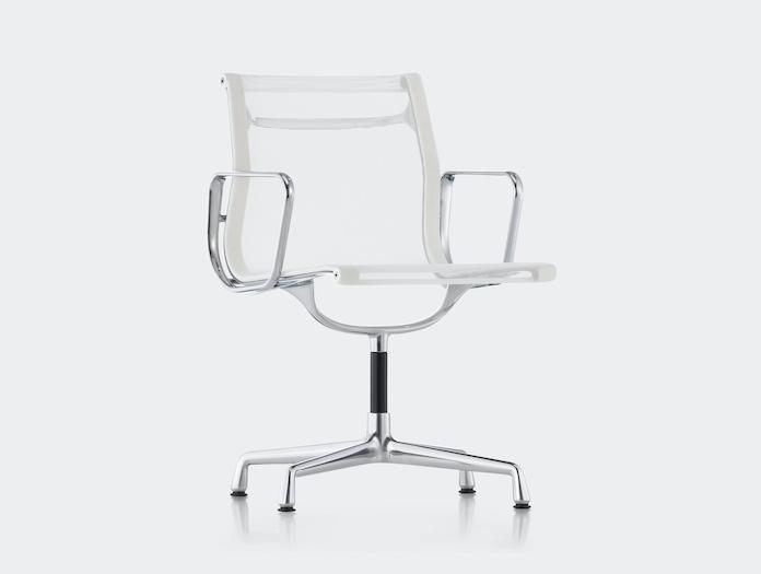Vitra Aluminium Group Chair White Mesh Charles And Ray Eames