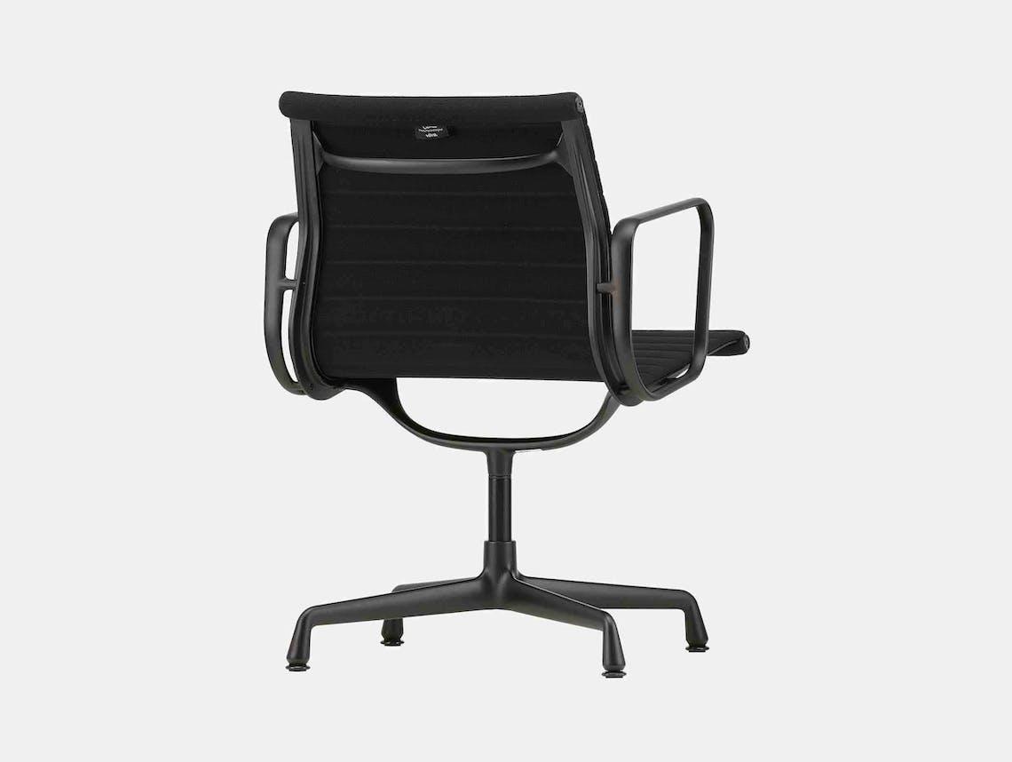 Vitra EA 108 Eames Alu Chair Nero Blk Back