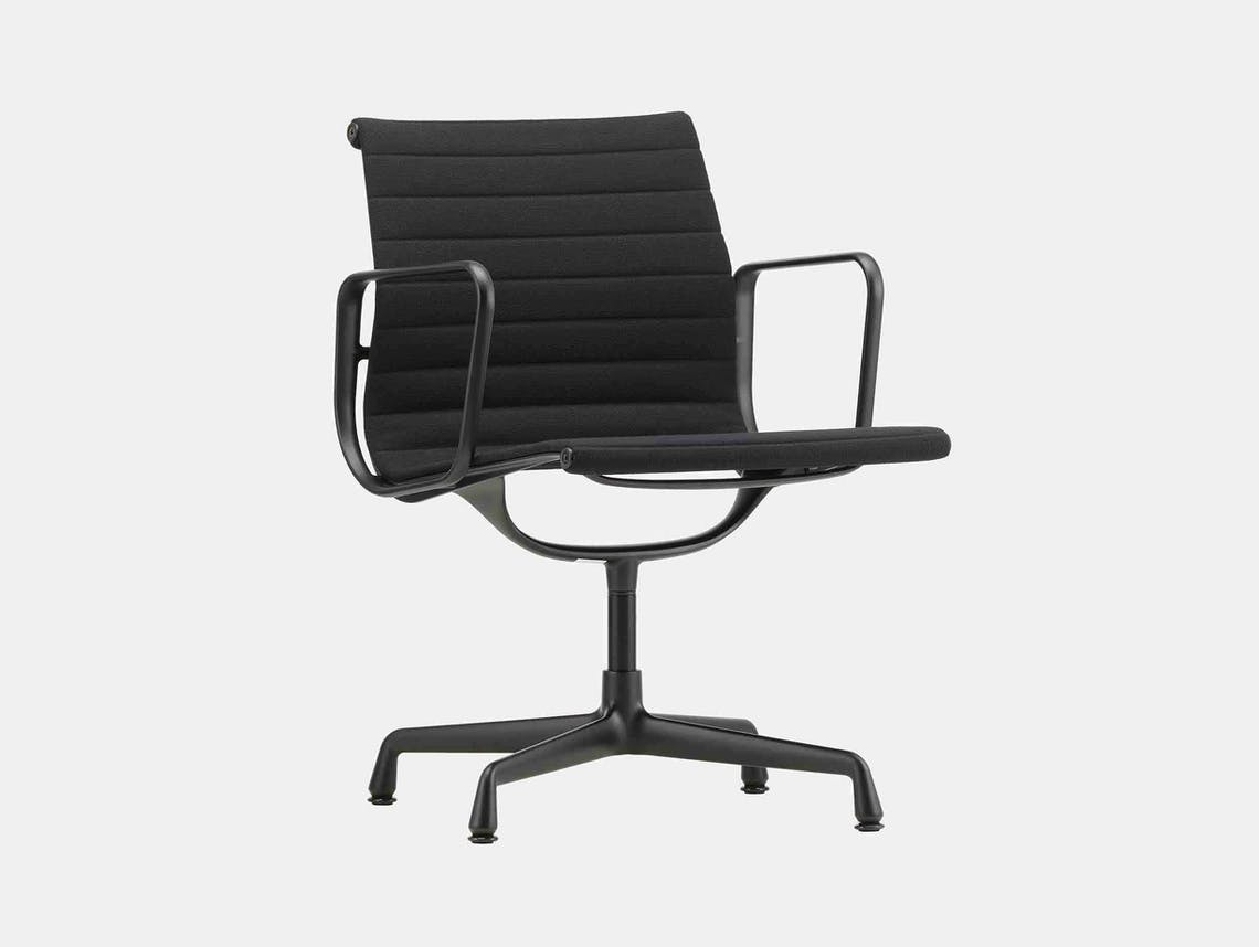 Vitra EA 108 Eames Alu Chair Nero Blk