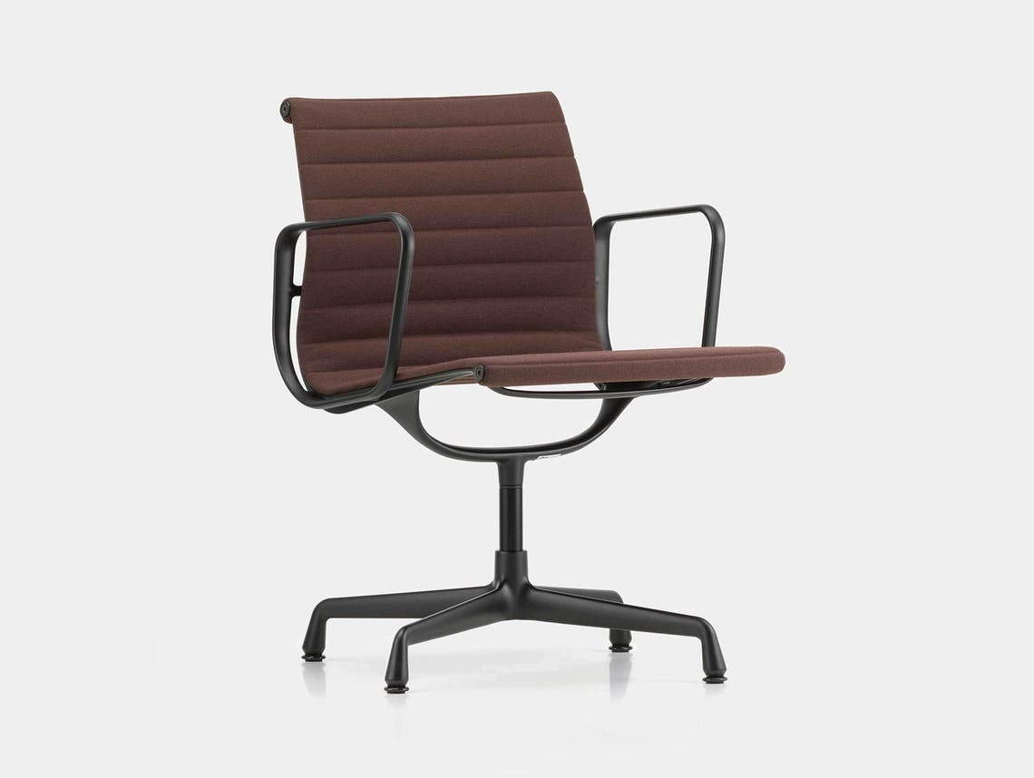Vitra EA 108 Eames Aluminium Group Chair Brown Blk Back