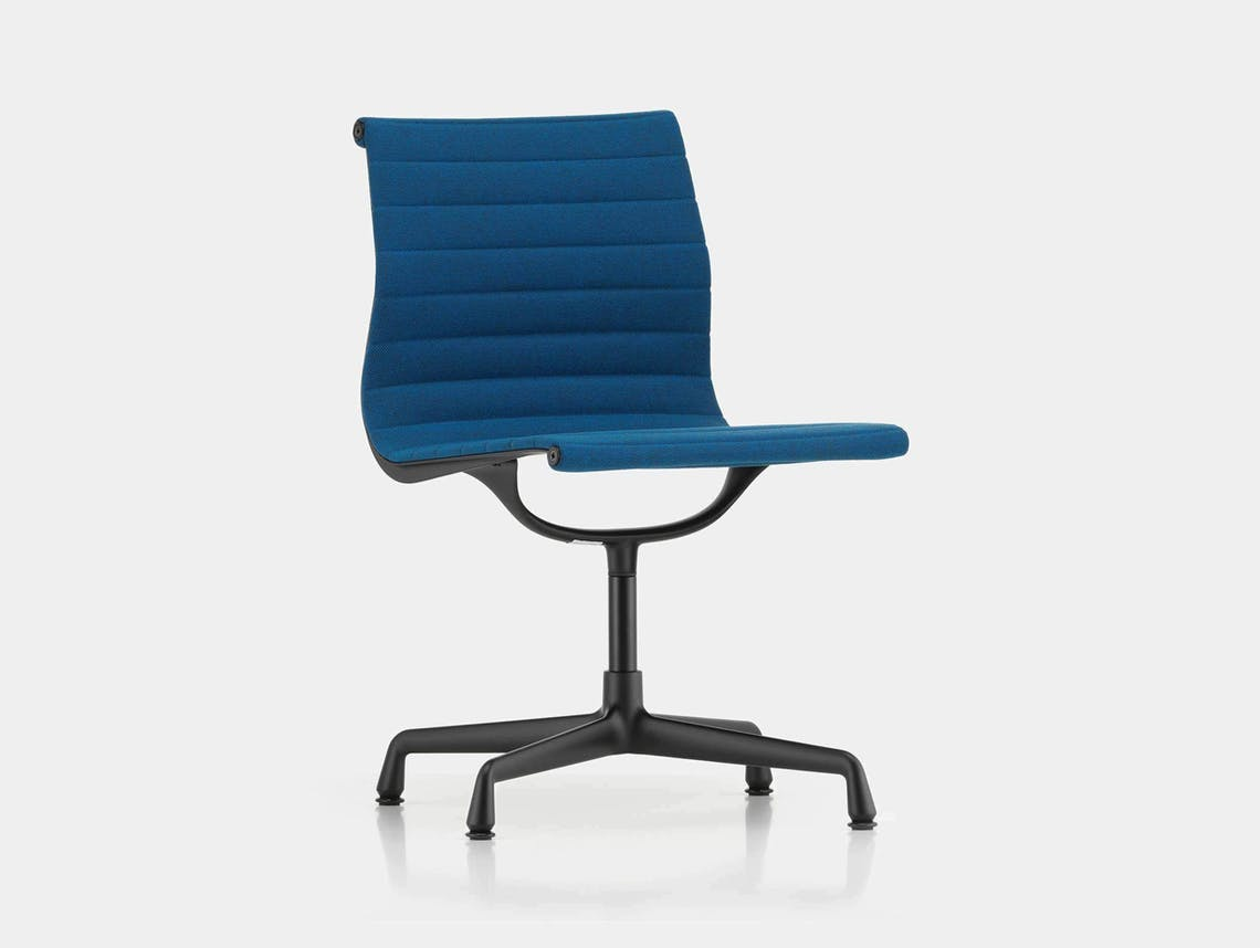 Vitra EA101 Aluminium Group Chair Blue Moor Broen