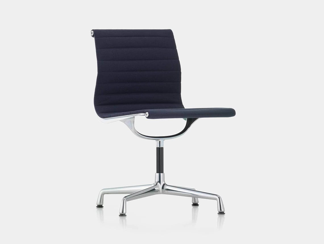 Vitra EA101 Aluminium Group Chair Blue Moor Brown