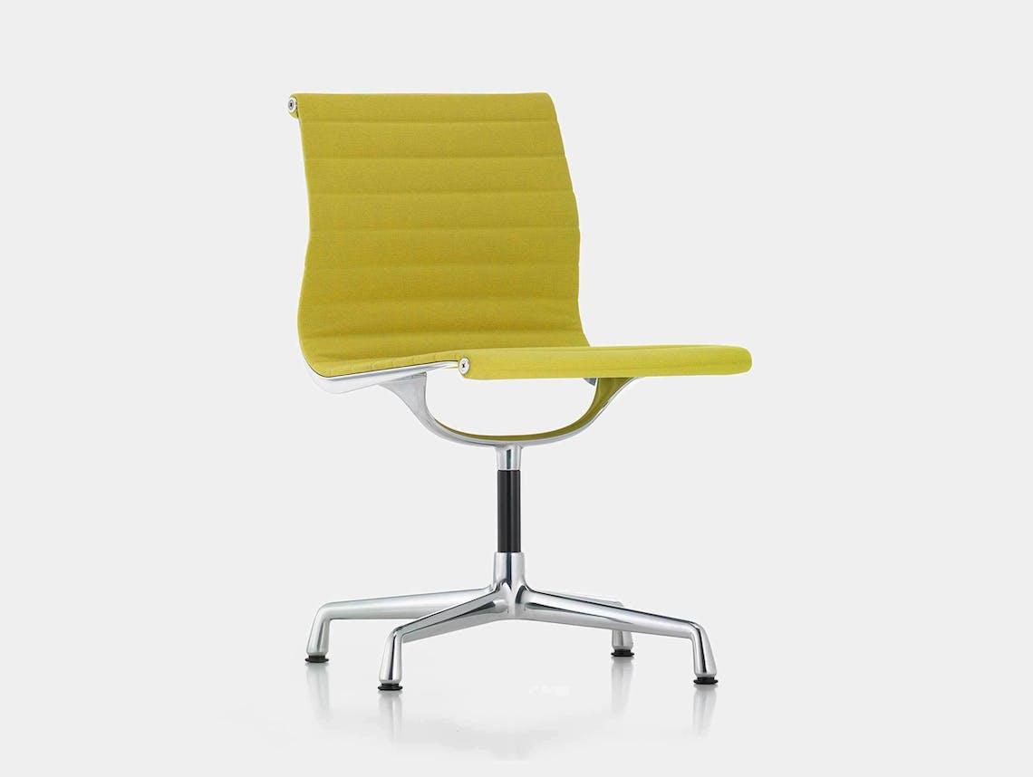 Vitra EA101 Aluminium Group Chair Yellow Green