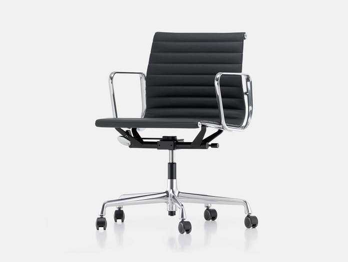 Vitra EA117 Aluminium Group Chair side chrome black Charles and Ray Eames