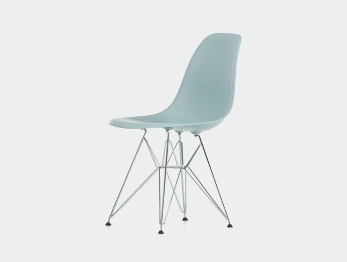 Vitra Eames Dsr Plastic Side Chair Pale Blue Charles Ray Eames