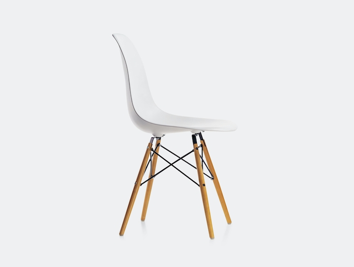 Vitra Eames Dsw Plastic Side Chair White Charles Ray Eames B