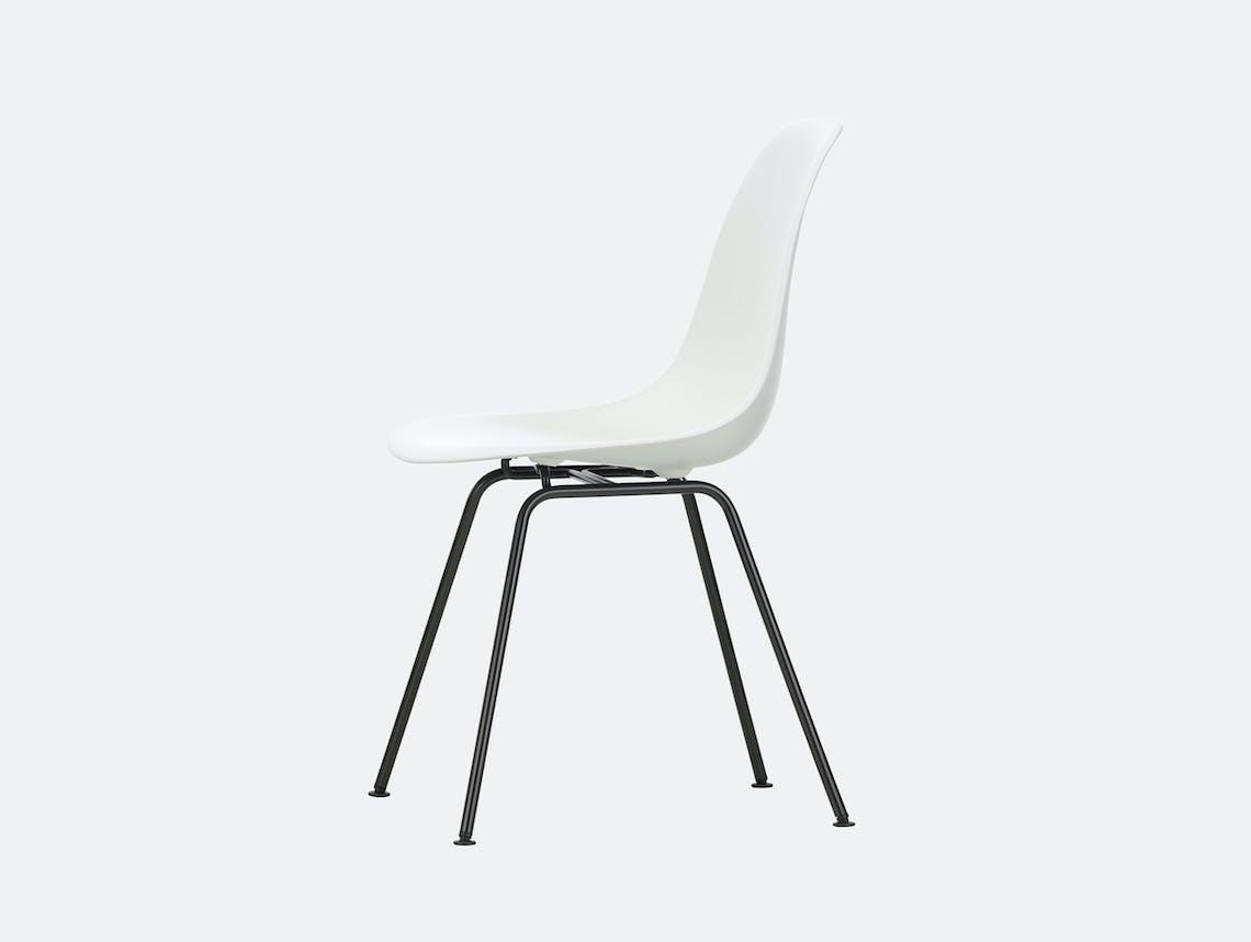 Vitra Eames DSX Plastic Chair 04 white Blk