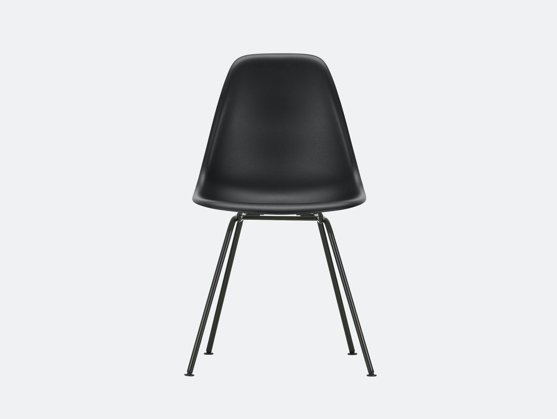 Vitra Eames DSX Plastic Chair 12 Deep Blk Blk