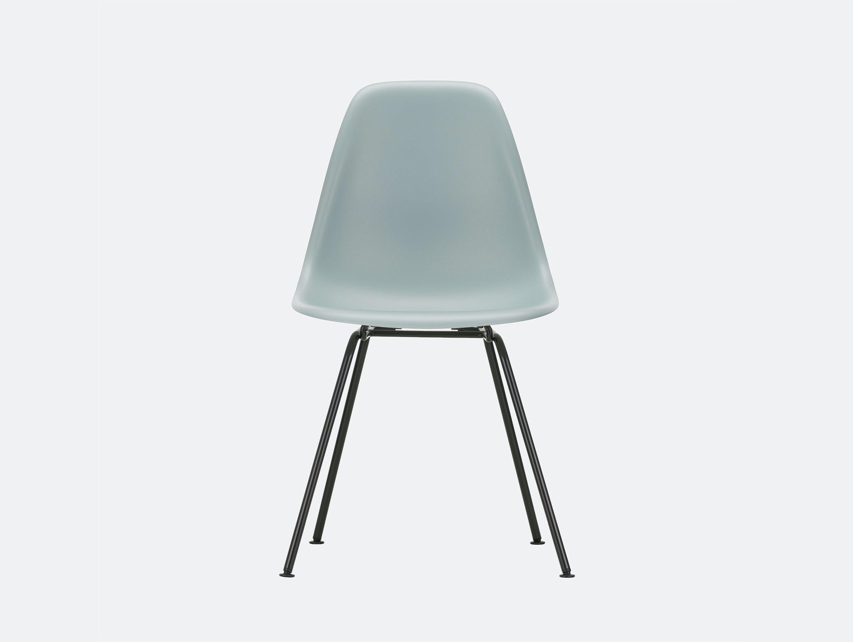 Vitra Eames DSX Plastic Chair 24 lt grey Blk