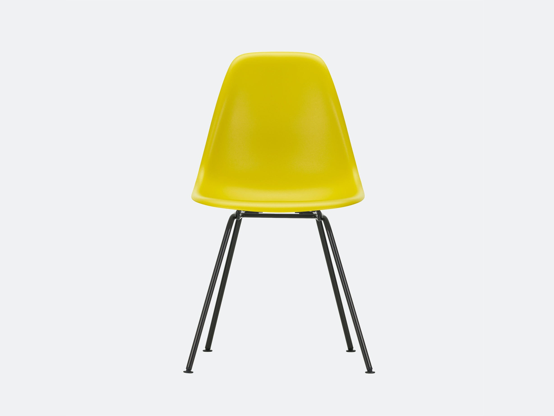 Vitra Eames DSX Plastic Chair 34 mustard Blk