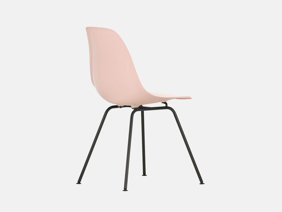 Vitra Eames DSX Plastic Chair 41 pale rose Blk