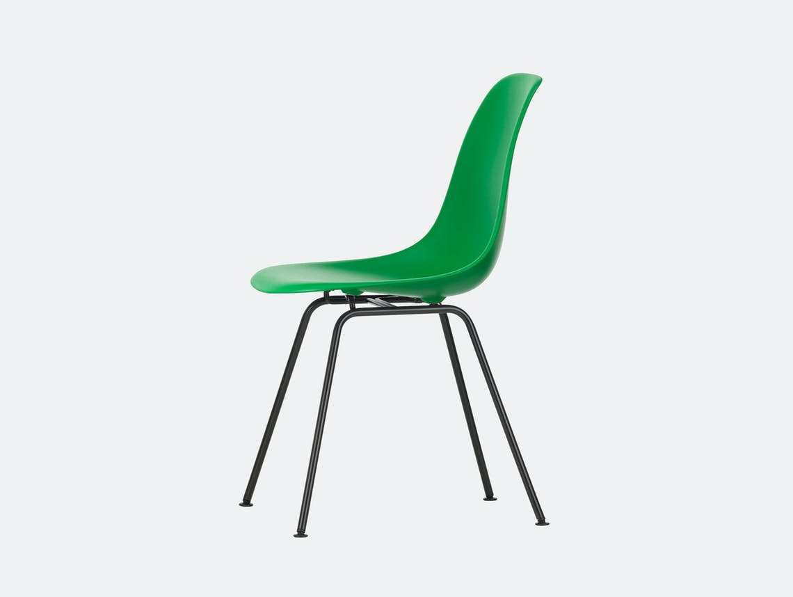 Vitra Eames DSX Plastic Chair 42 green Blk