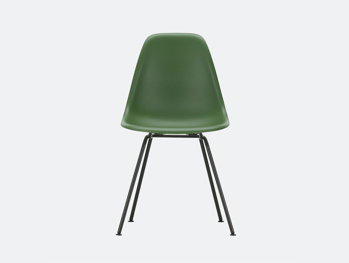 Vitra Eames DSX Plastic Chair 48 forest Blk
