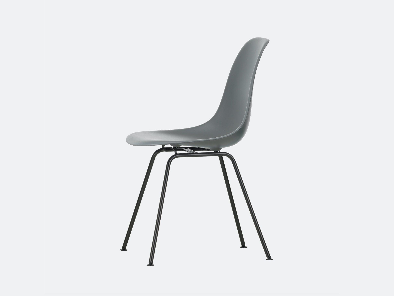 Vitra Eames DSX Plastic Chair 56 Granite Grey Blk