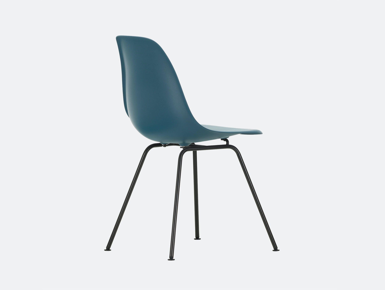 Vitra Eames DSX Plastic Chair 83 sea blue Blk