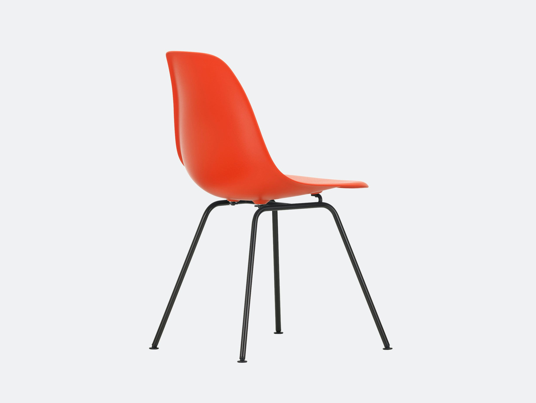 Vitra Eames DSX Plastic Chair Poppy Red Blk