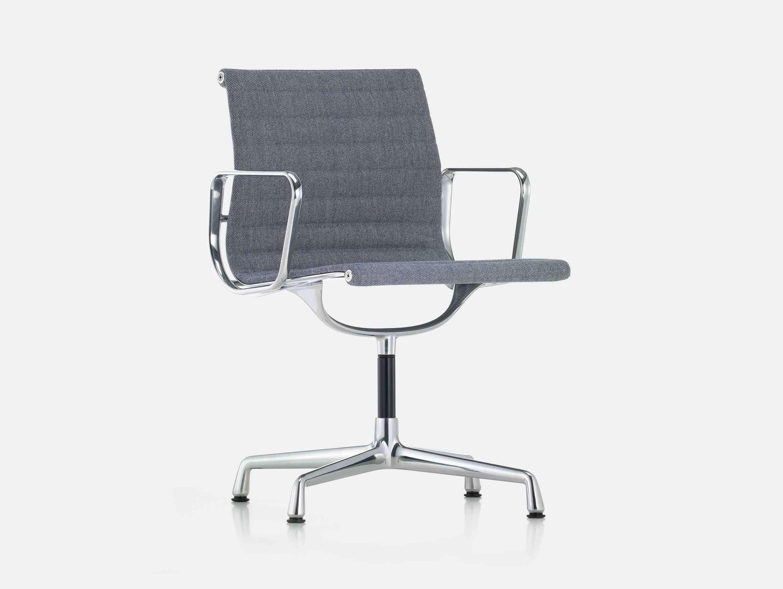 Vitra Eames EA104 Aluminium Group Chair Dark Blue Ivory