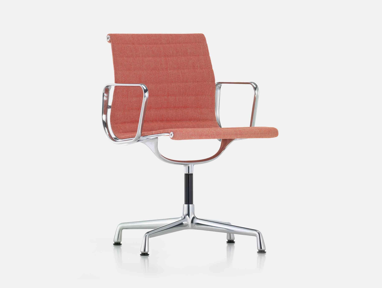 Vitra Eames EA104 Aluminium Group Chair Poppy Ivory