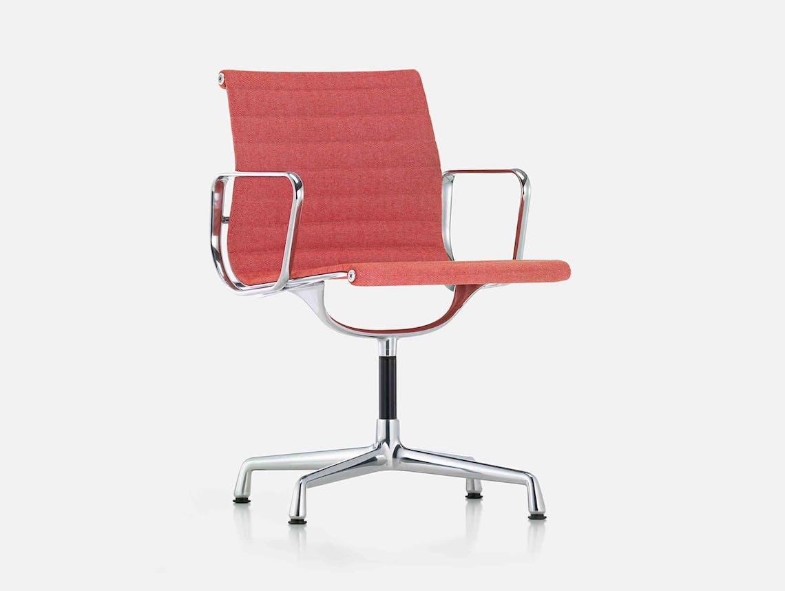 Vitra Eames EA104 Aluminium Group Chair Poppy Pink
