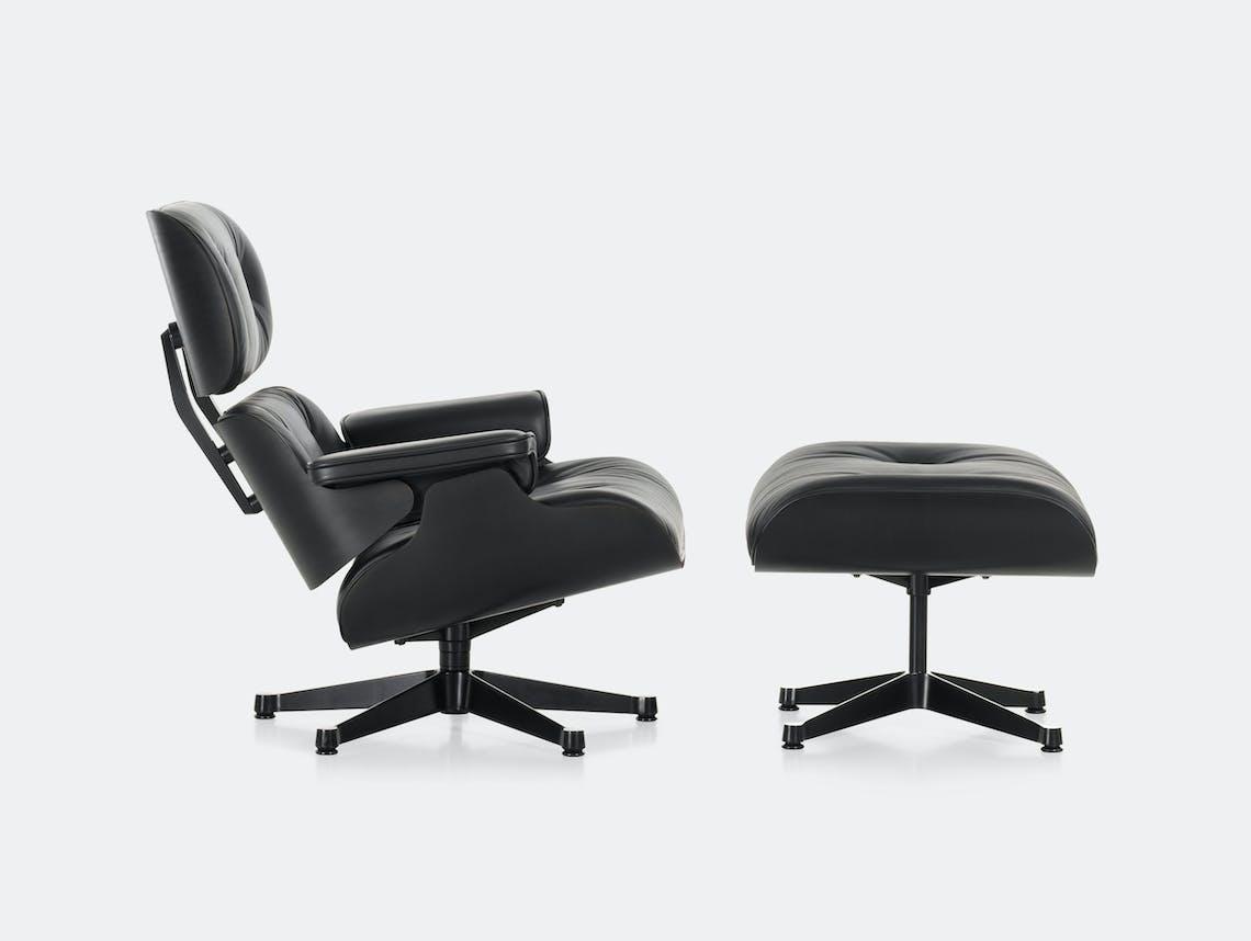 Vitra Eames Lounge Chair Ottoman Black Ash Charles And Ray Eames