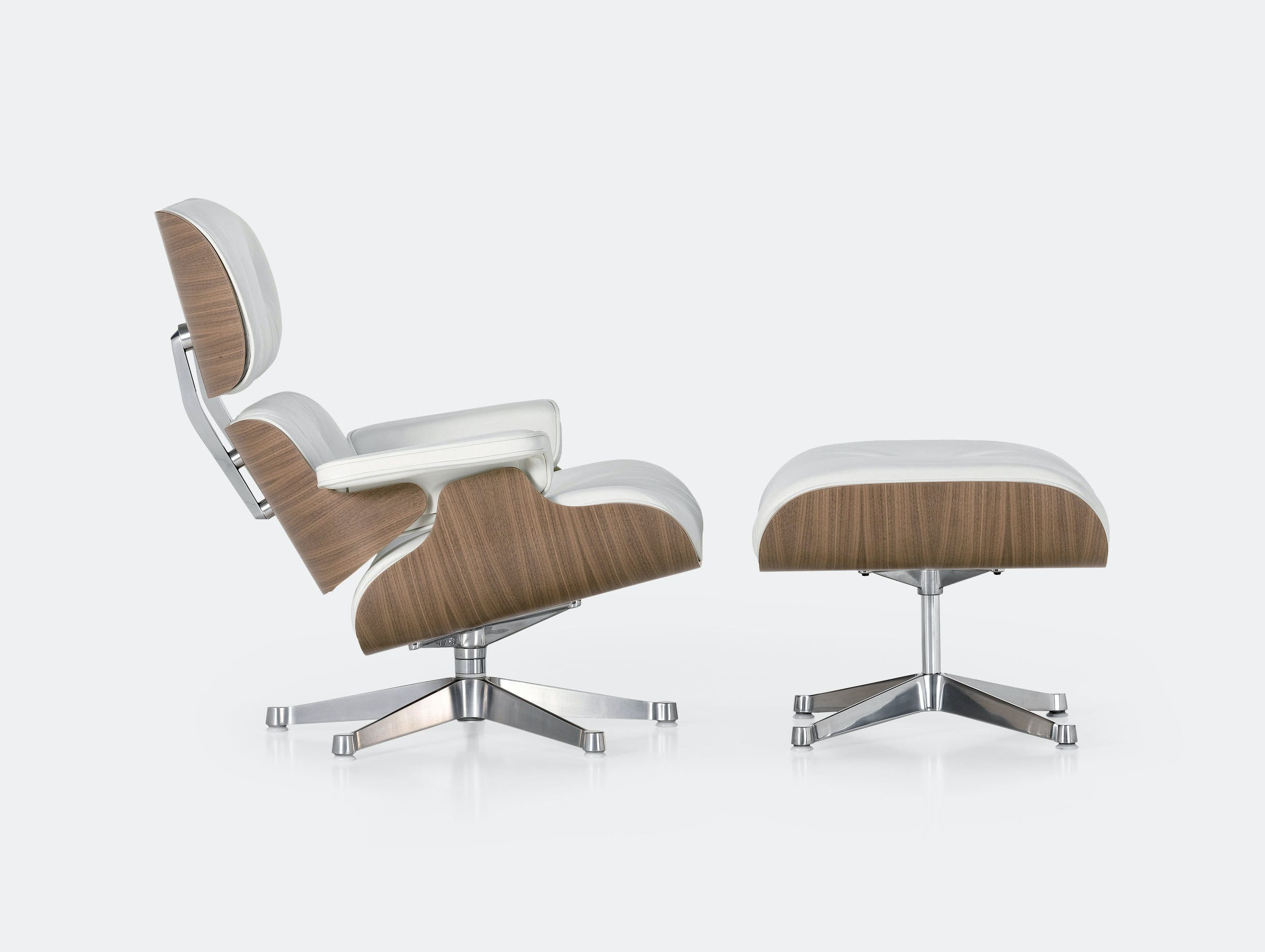 Vitra Eames Lounge Chair Ottoman Walnut White Ash Charles And Ray Eames