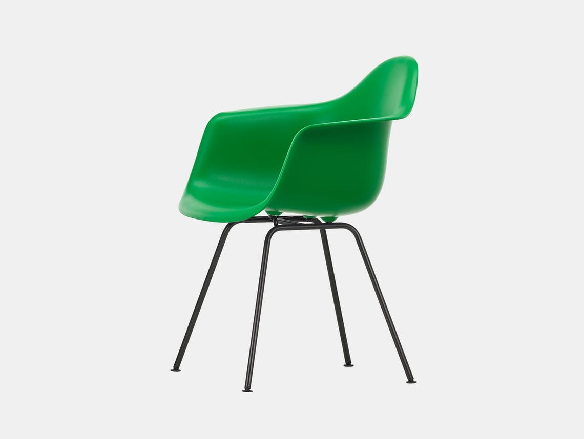 Vitra Eames Plastic Armchair DAX 42 Green Blk