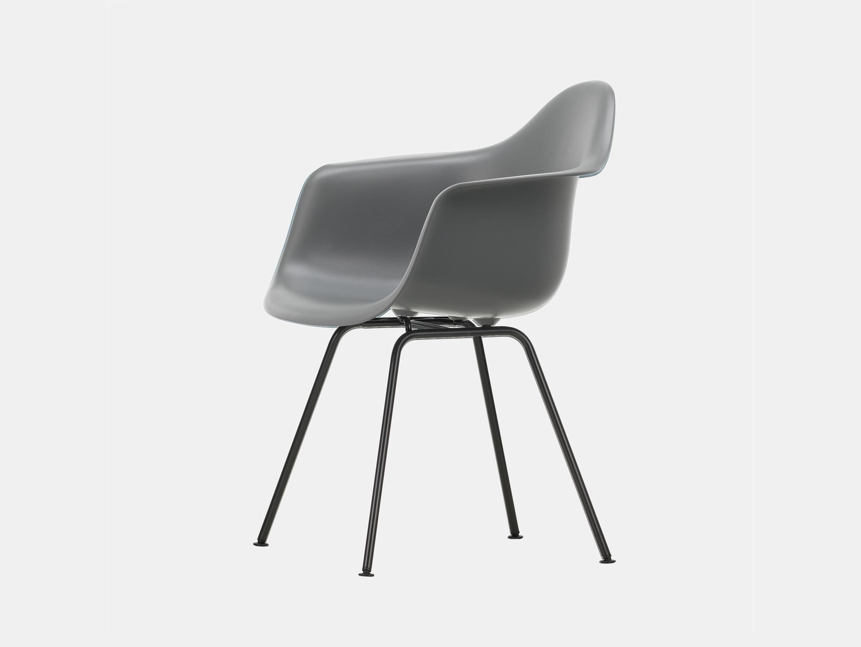 Vitra Eames Plastic Armchair DAX 56 Granite Grey Blk