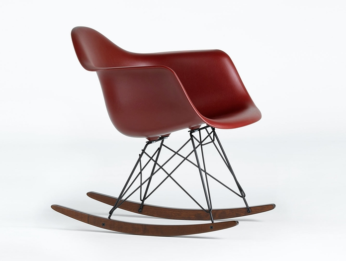 Vitra Eames Rar Rocking Chair Oxide Red Dark Maple Charles And Ray Eames