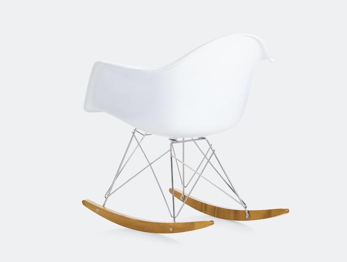 Vitra Eames Rar Rocking Chair White Back Charles And Ray Eames