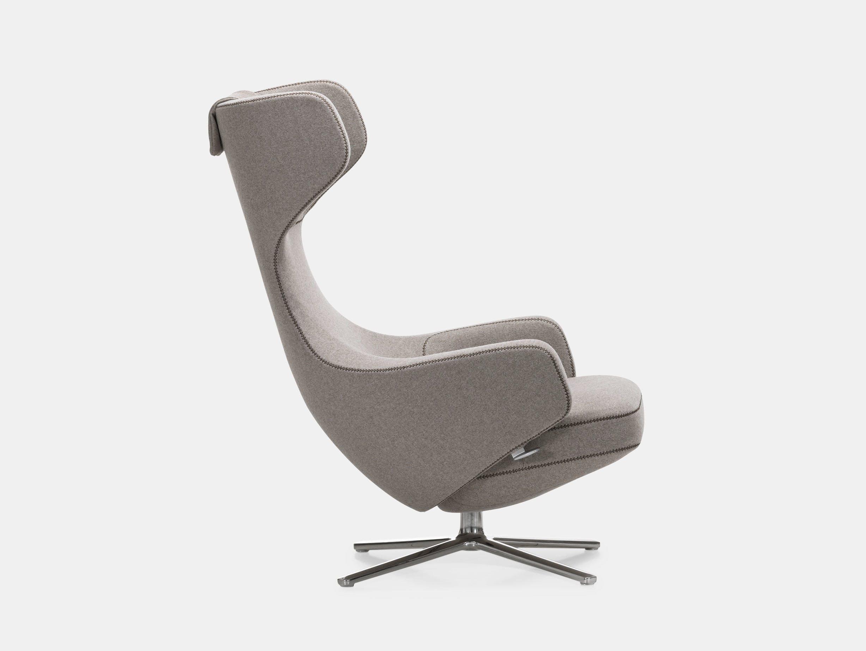 Vitra Grand Repos Lounge Chair Cosy Fossil Antonio Citterio