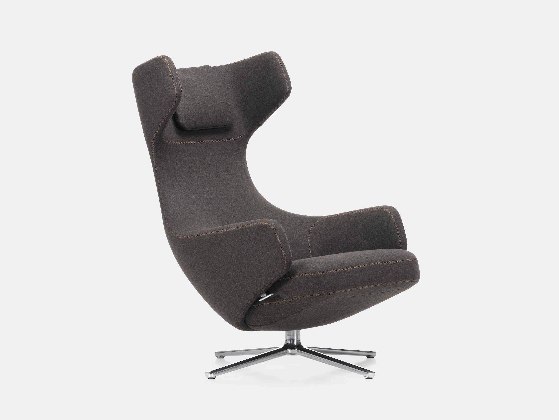 Vitra Grand Repos Lounge Chair Cosy Nutmeg Antonio Citterio