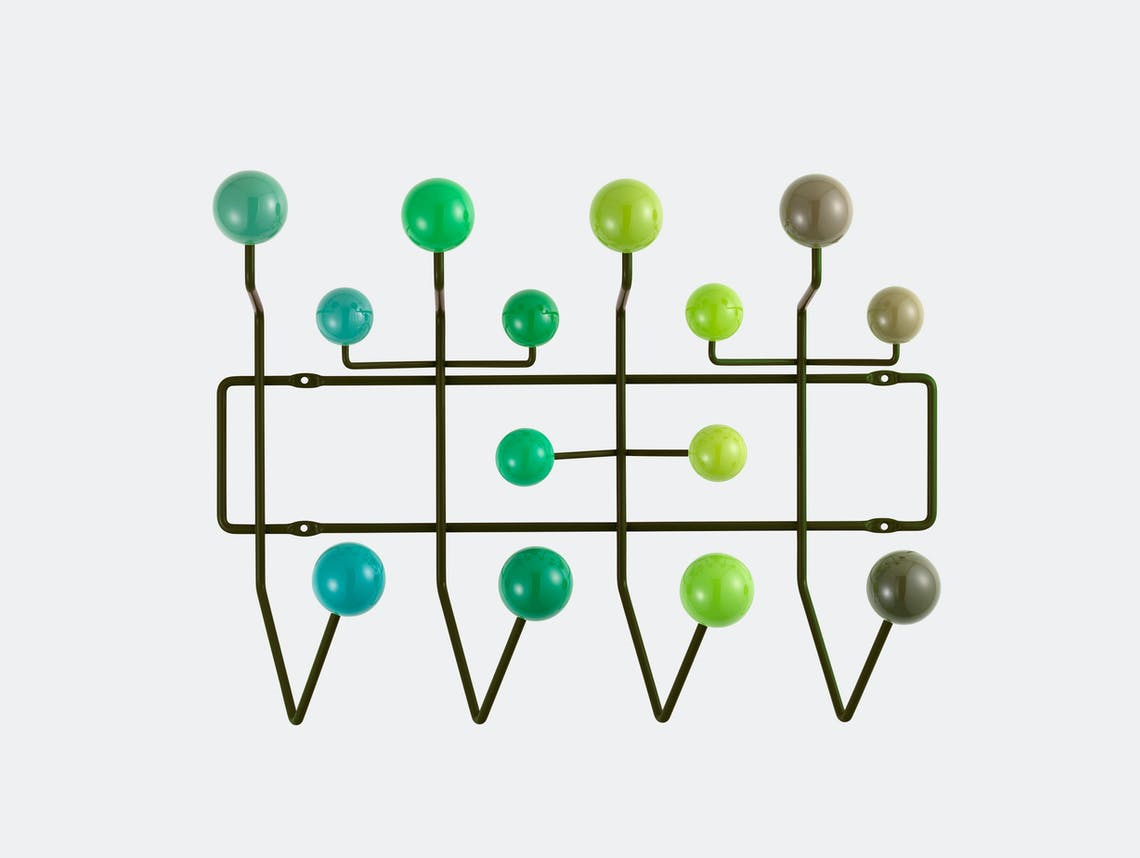Vitra Hang It All Coat Rack Green Charles And Ray Eames