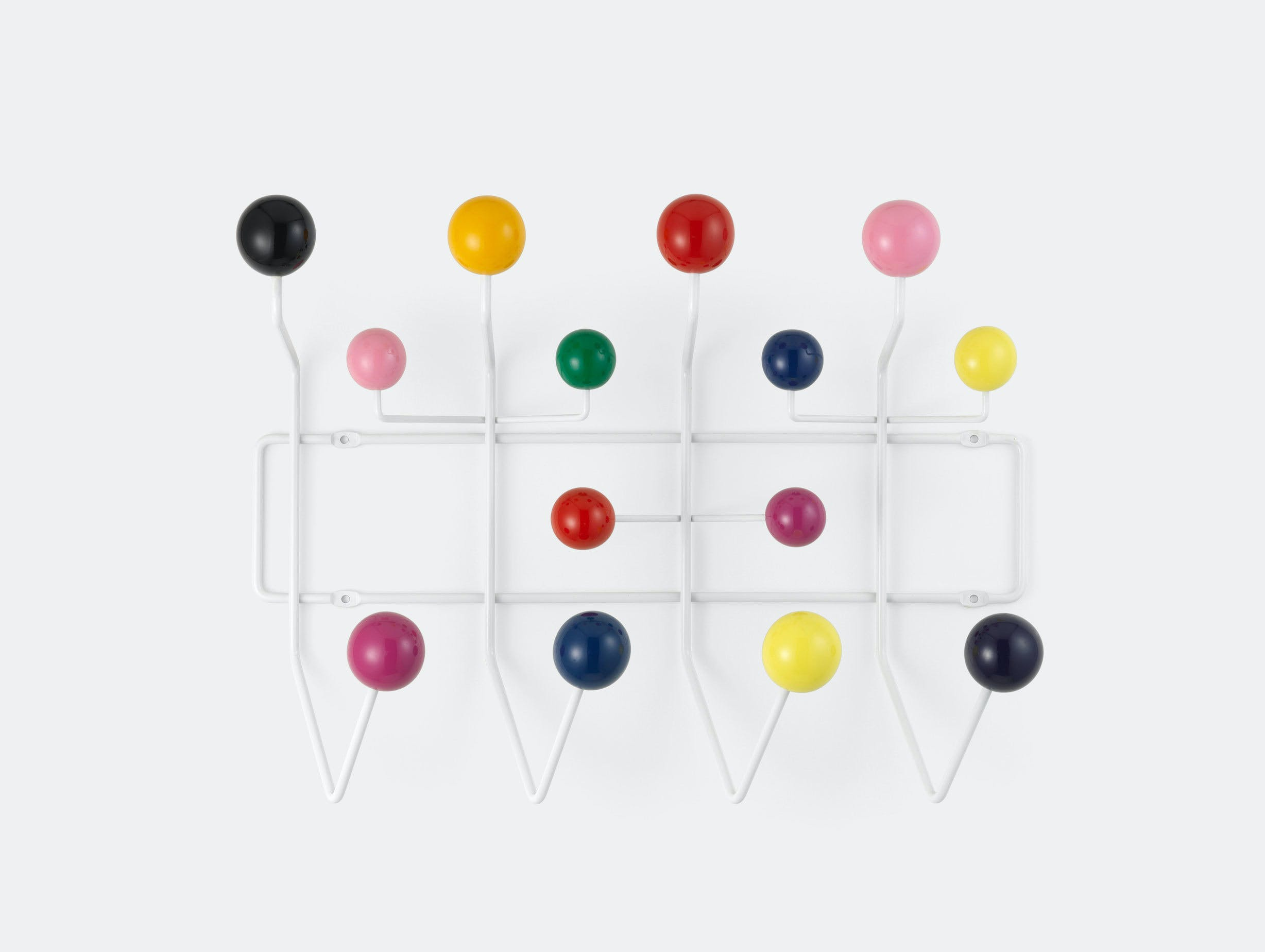 Vitra Hang It All Coat Rack Multicoloured Charles And Ray Eames