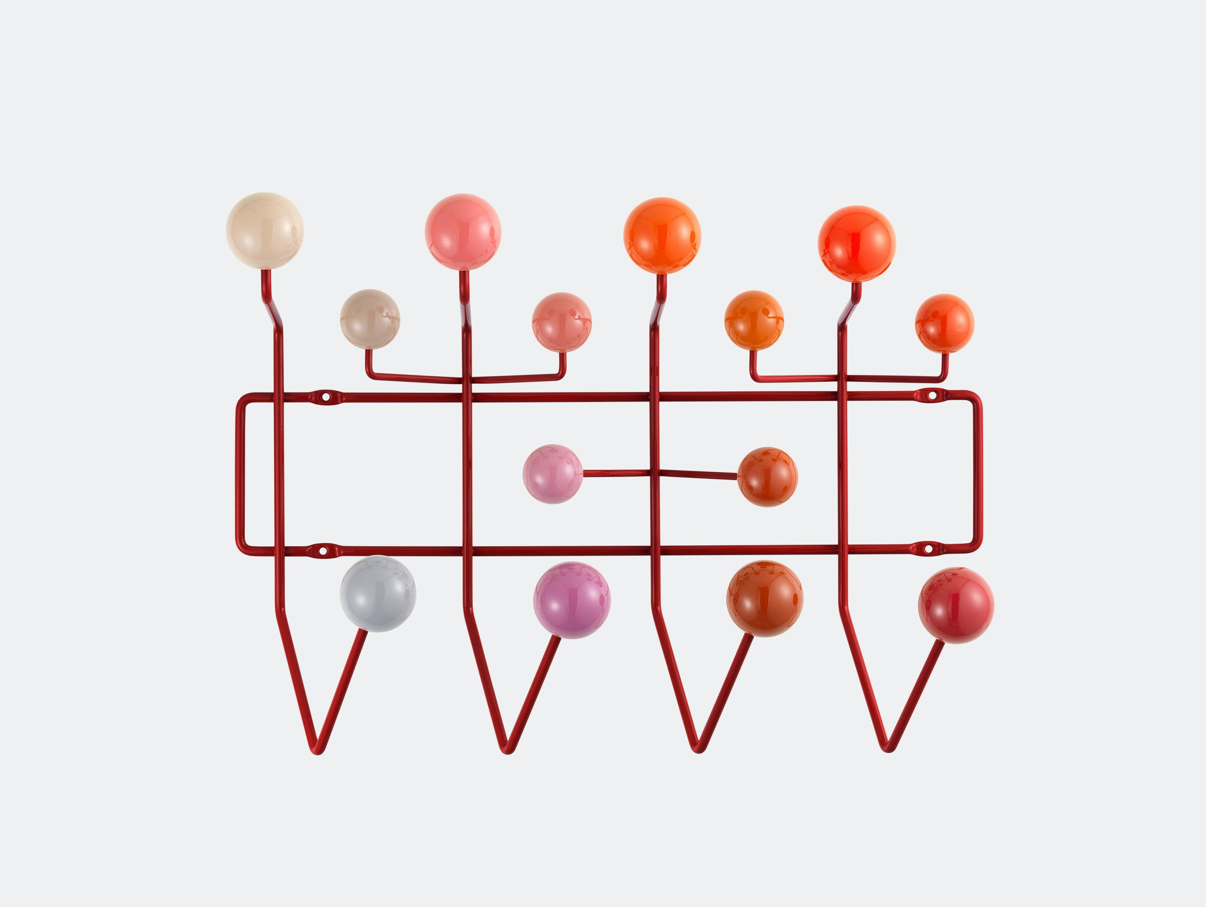 Vitra Hang It All Coat Rack Red Charles And Ray Eames