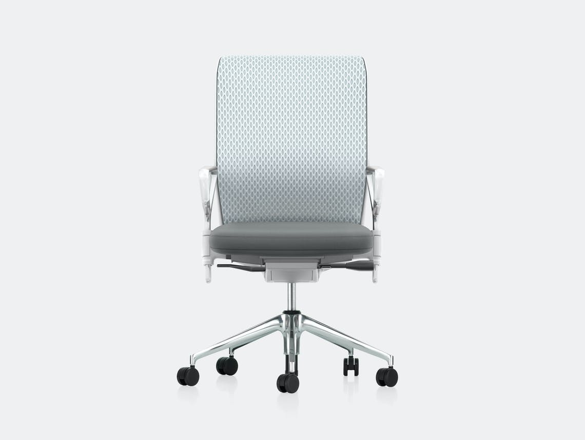 Vitra Id Mesh Office Chair Grey Antonio Citterio