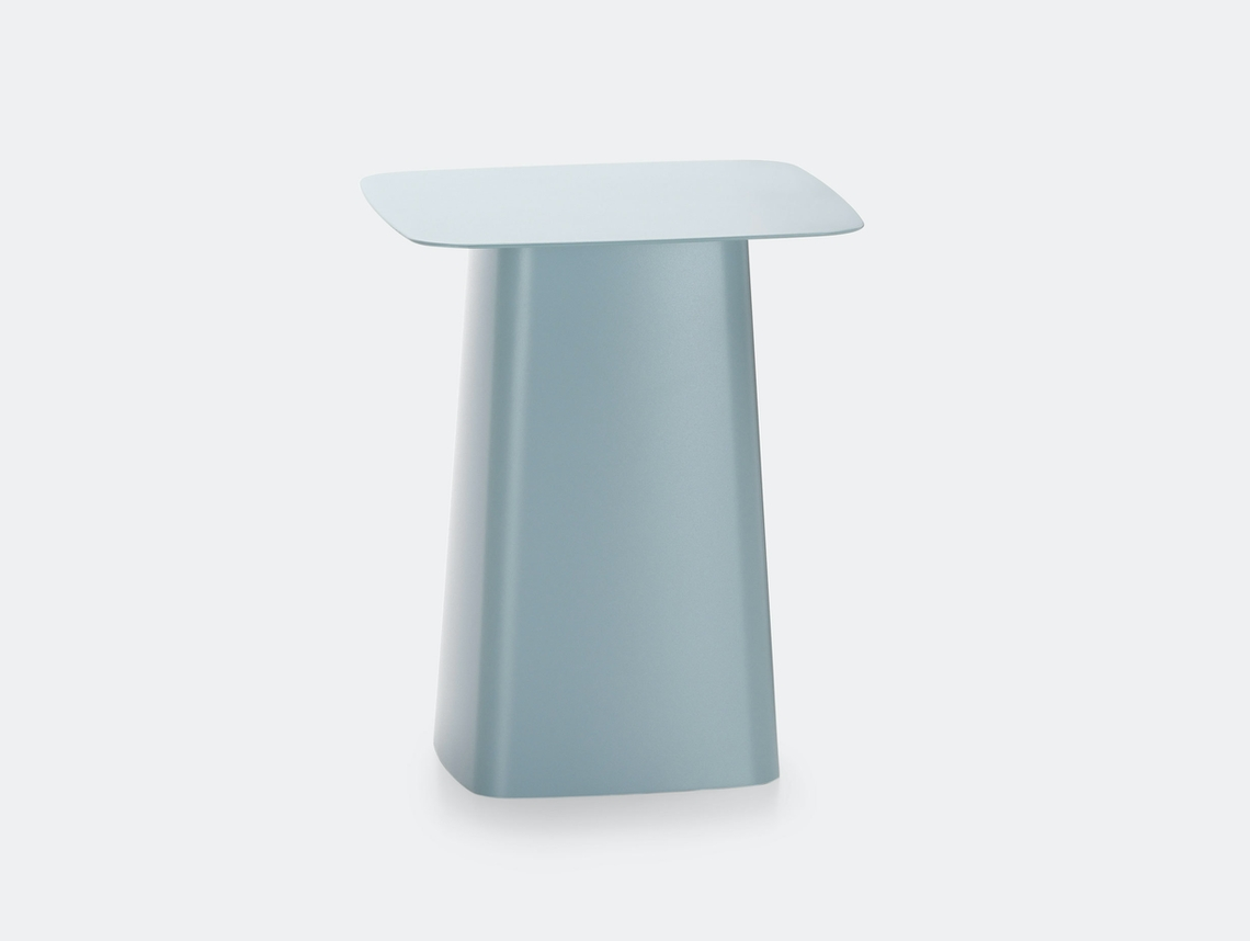 Vitra Outdoor Metal Side Table Ice Grey Ronan Erwan Bouroullec