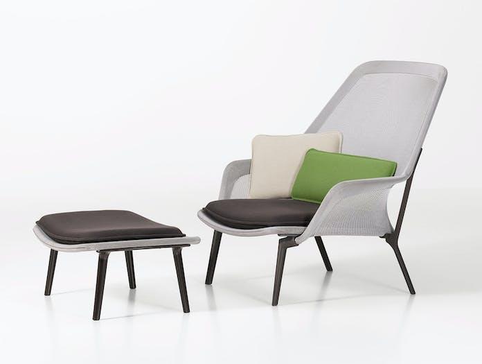 Vitra Slow Chair Brown Cream Ronan Erwan Bouroullec