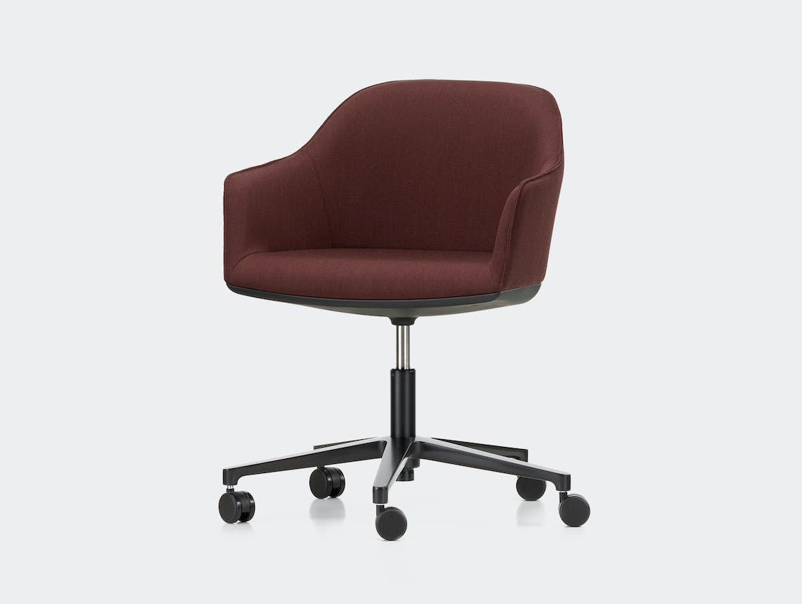 Vitra Softshell Office Chair Ronan and Erwan Bouroullec Brown