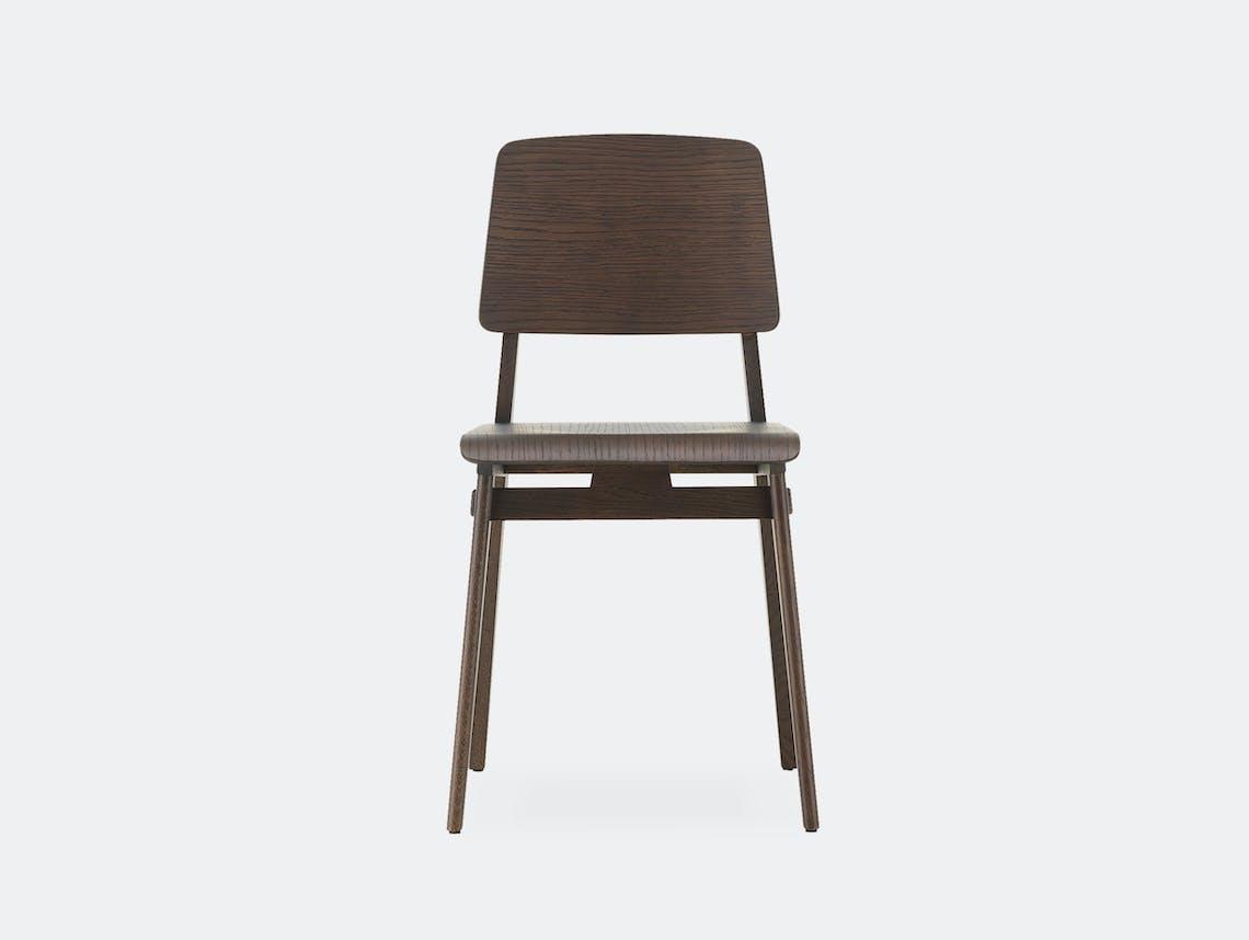 Vitra chaise tout bois prouve dark oak 1