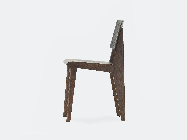 Vitra chaise tout bois prouve dark oak 2