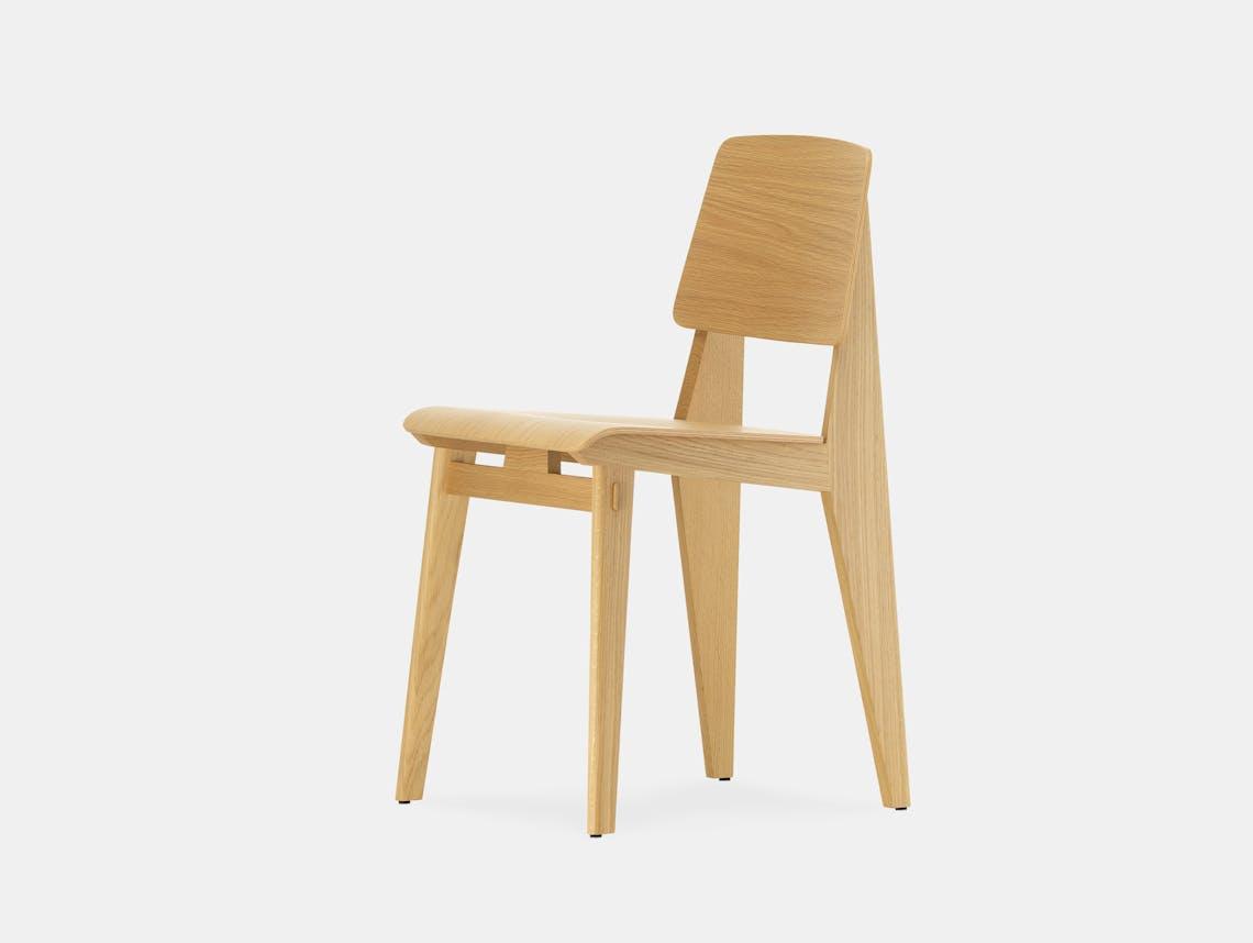 Vitra chaise tout bois prouve oak
