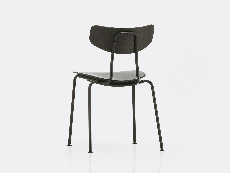 Vitra moca chair dark oak basic dark back