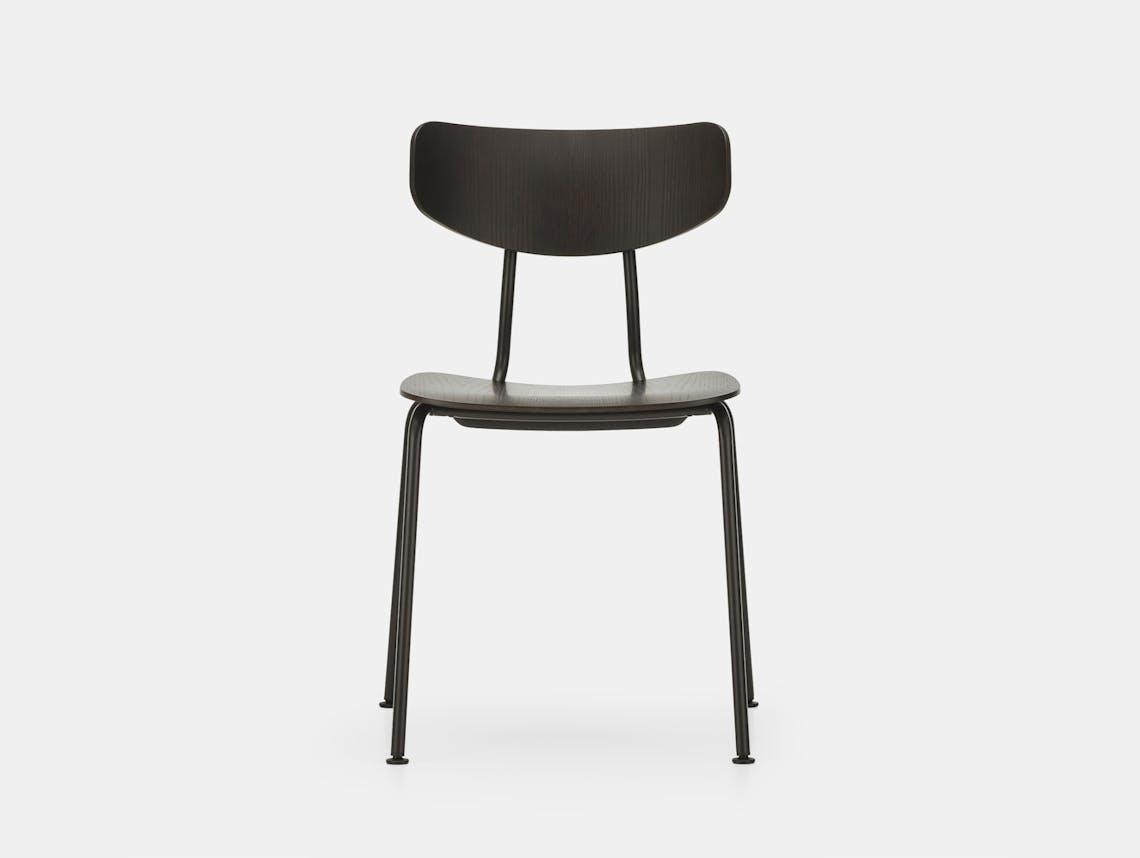 Vitra moca chair dark oak basic dark front