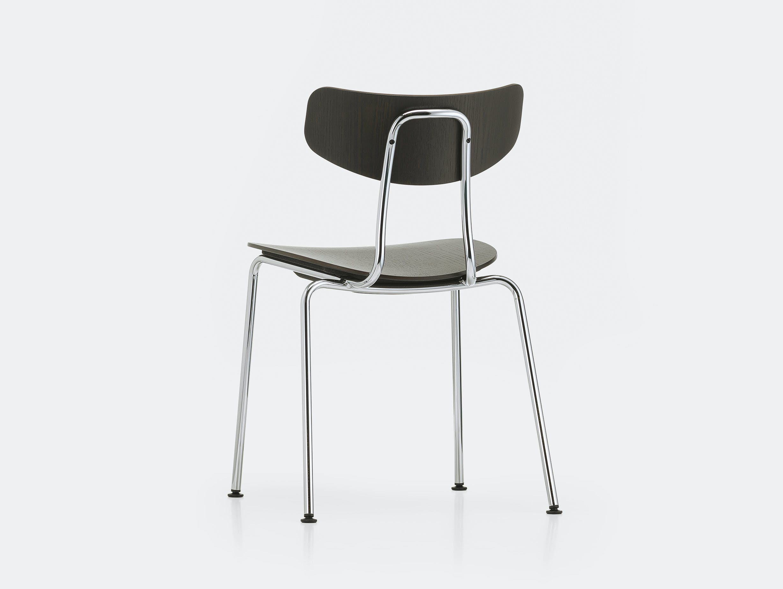 Vitra moca chair dark oak chrome back