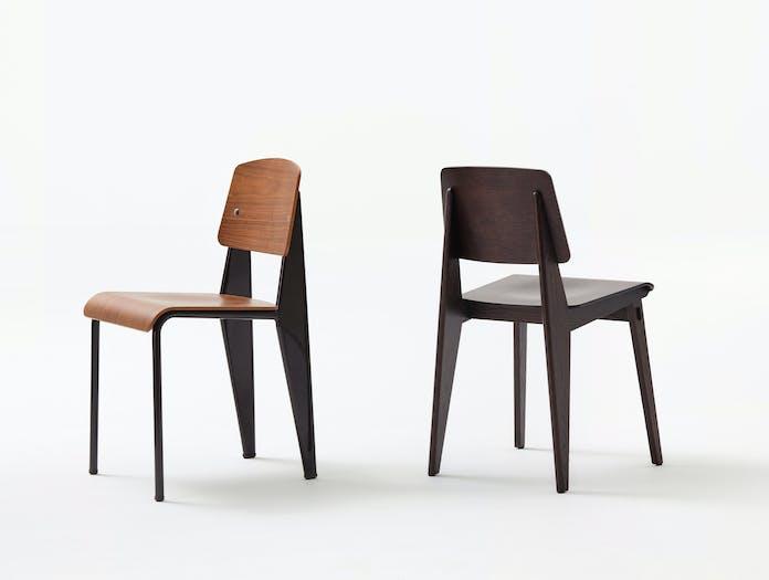 Vitra Chaise Tout Bois Prouve Standard