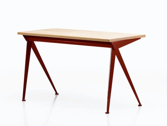 Vitra Compas Direction Desk Oiled Oak Japanese Red Jean Prouve