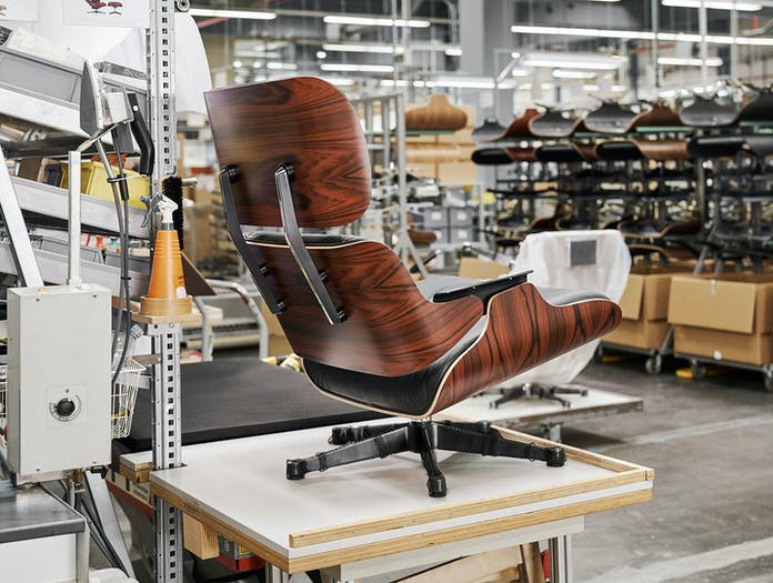 Vitra Eames Lounge Chair Ottoman Factory Charles And Ray Eames
