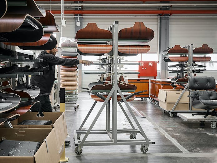 Vitra Eames Lounge Chair Ottoman Production Charles And Ray Eames