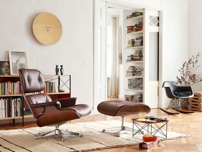 Vitra Eames Lounge Chair Ottoman Walnut Charles And Ray Eames