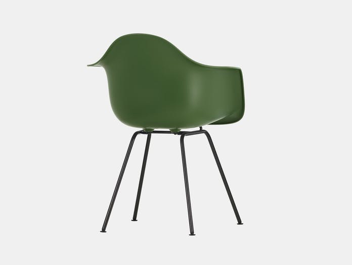 Vitra Eames Plastic Armchair DAX 48 Forest Blk Back